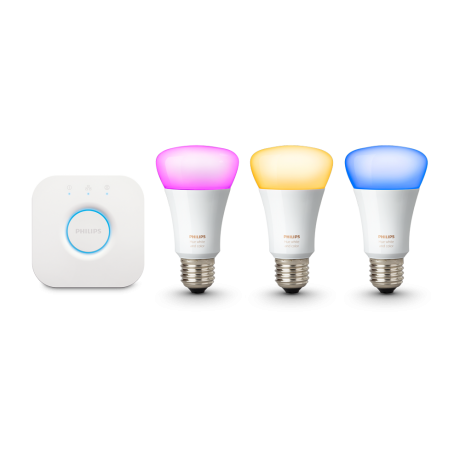 Philips Hue E27 startsæt color white ambiance