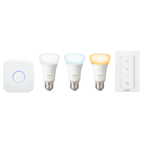 Philips Hue White Ambiance E27 - Startsæt + dimming switch