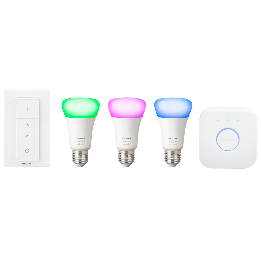 Philips Hue white color ambiance starts + dimming switch