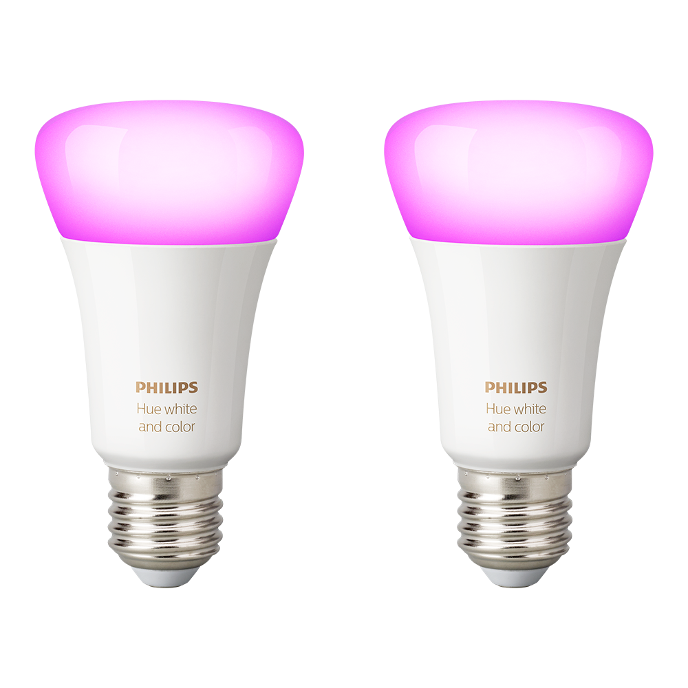 Philips Hue E27 white color ambiance dobbelt pakke