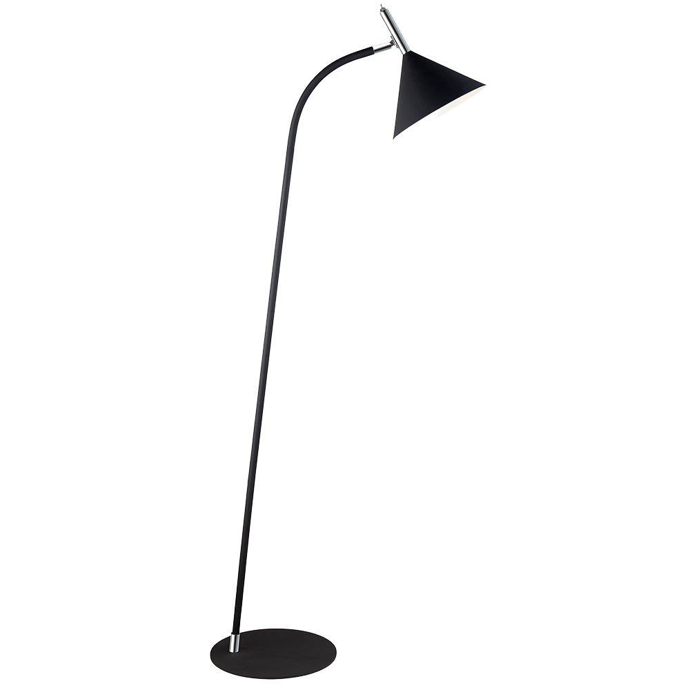 Halo Design Nysø Gulvlampe Sort/Krom