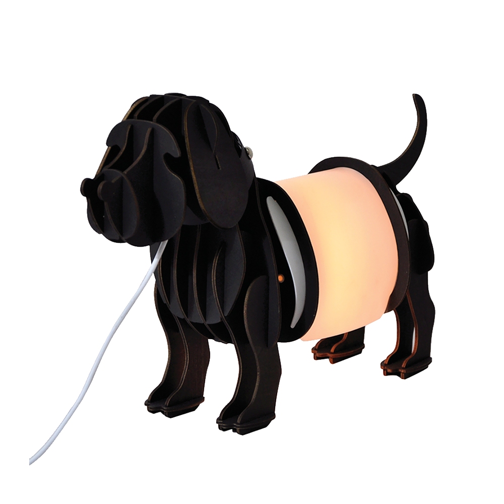Halo Design Woof Bordlampe Sort